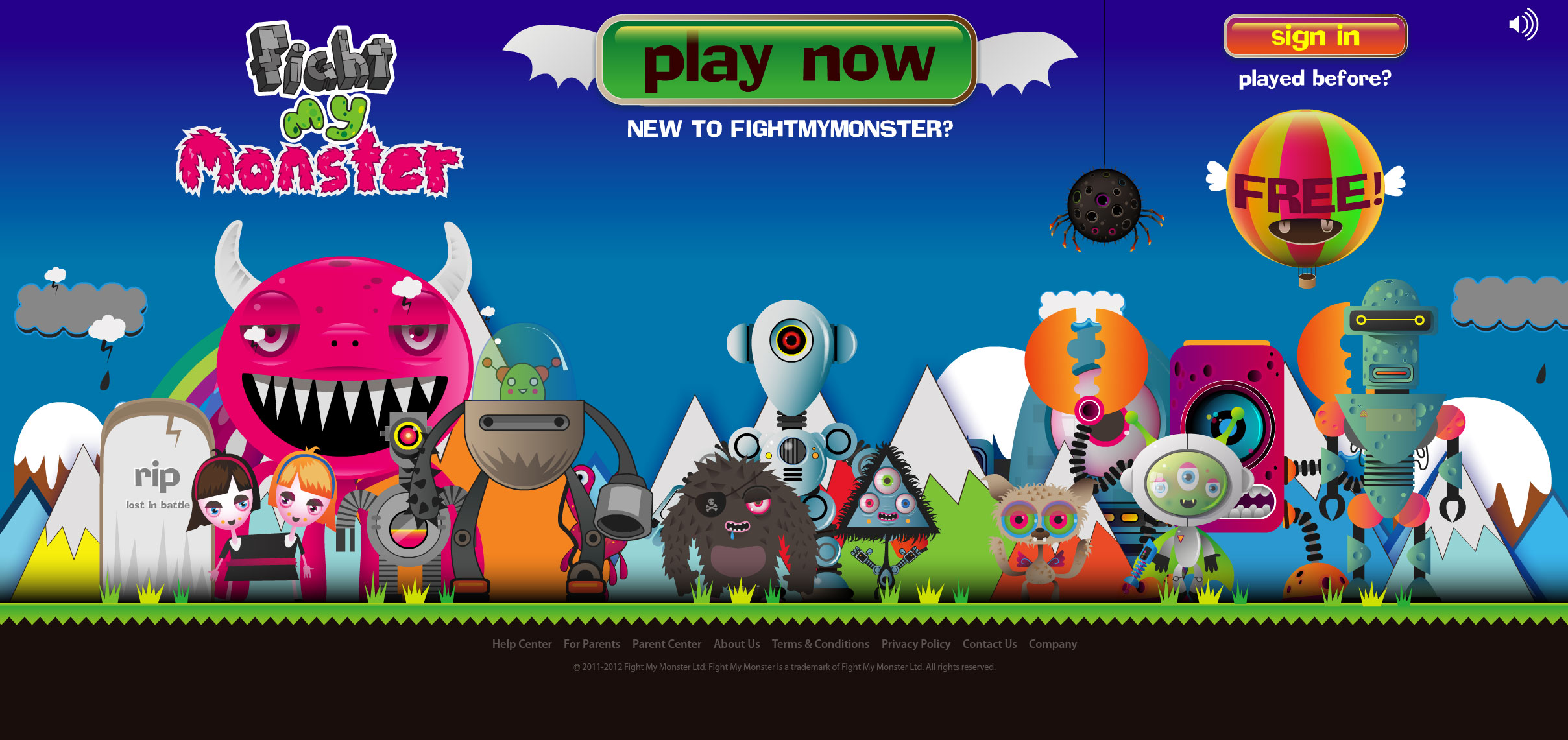 animated-homepage-for-online-game