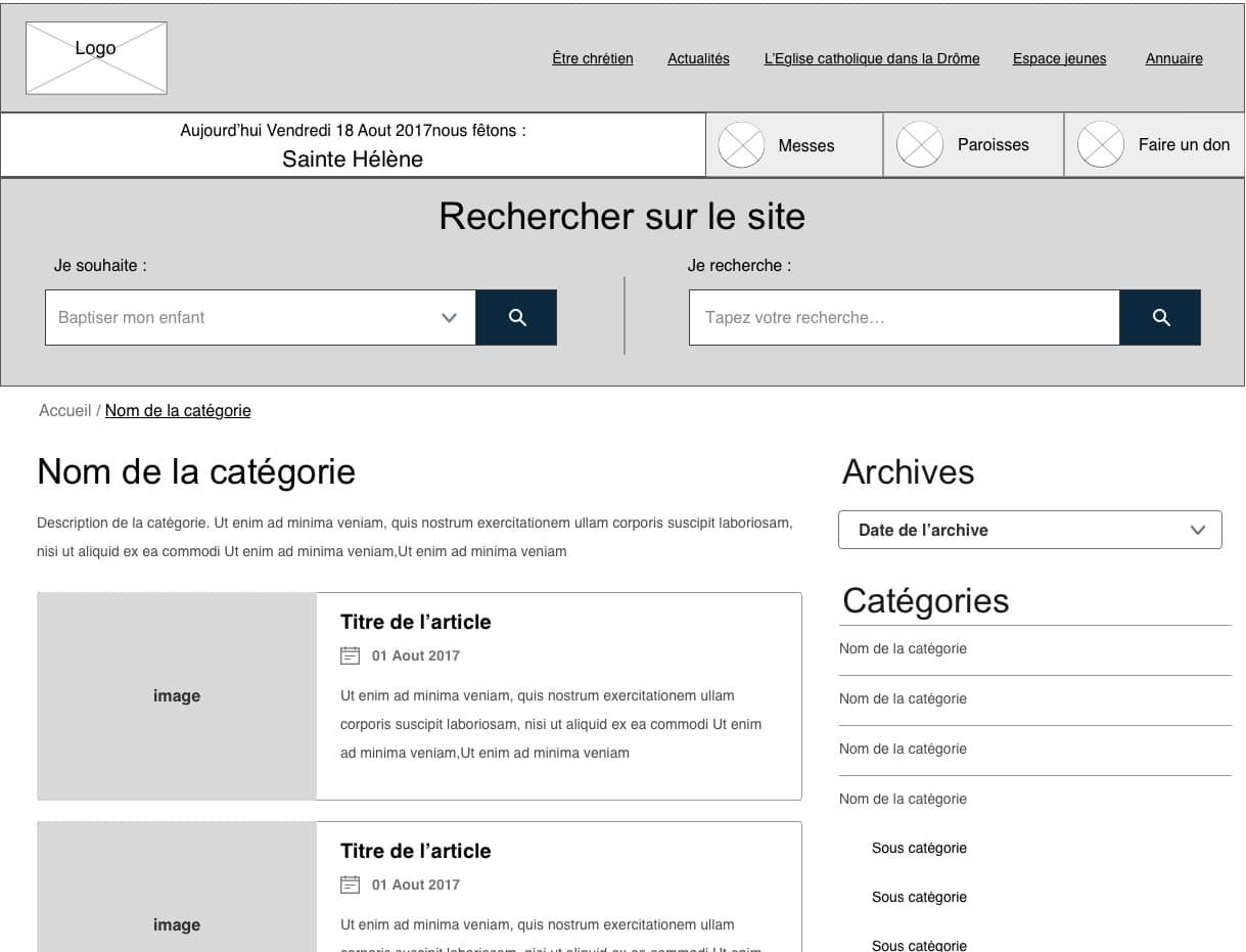 wireframe blog wordpress