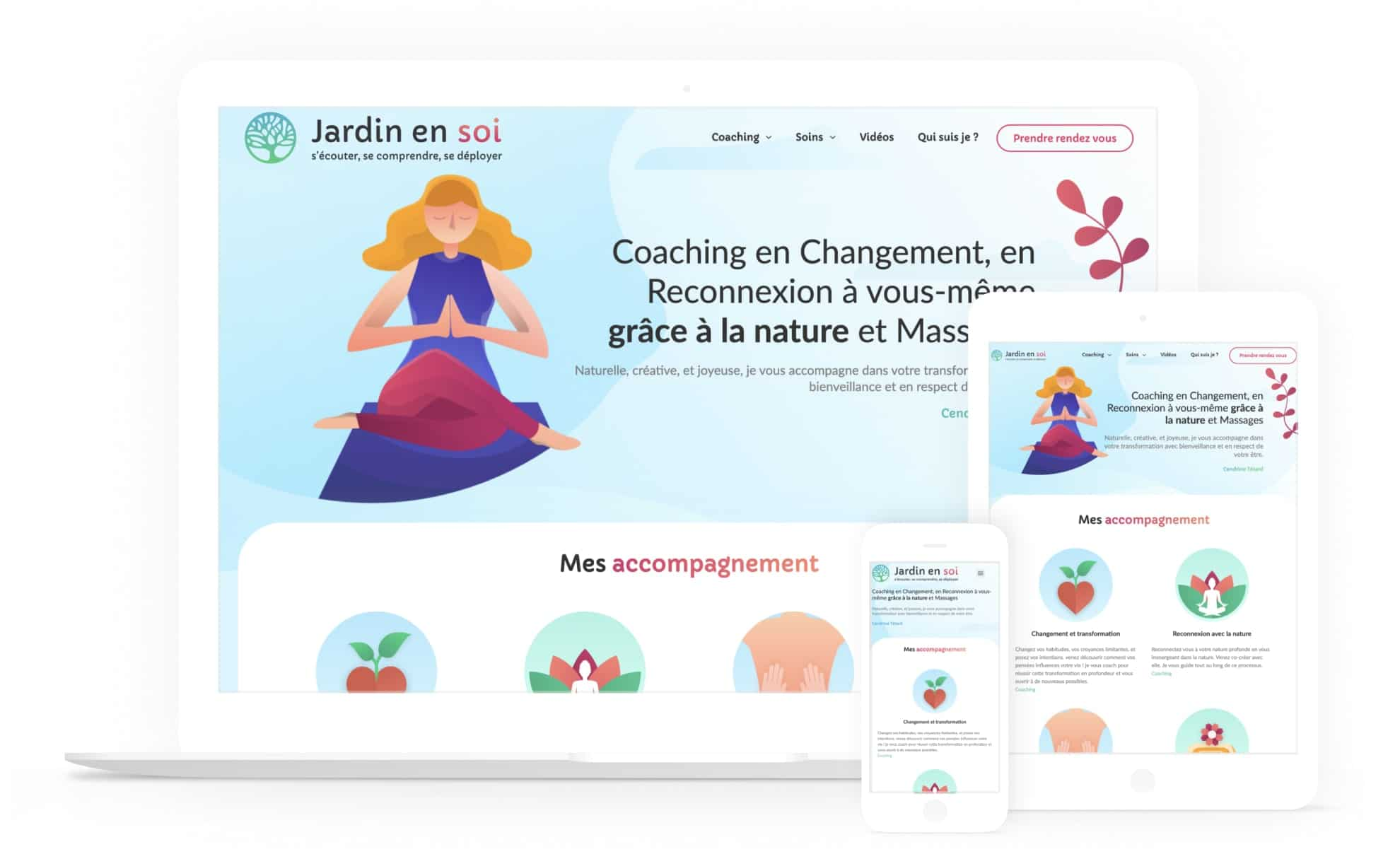Version responsive du site wordpress jardin en soi