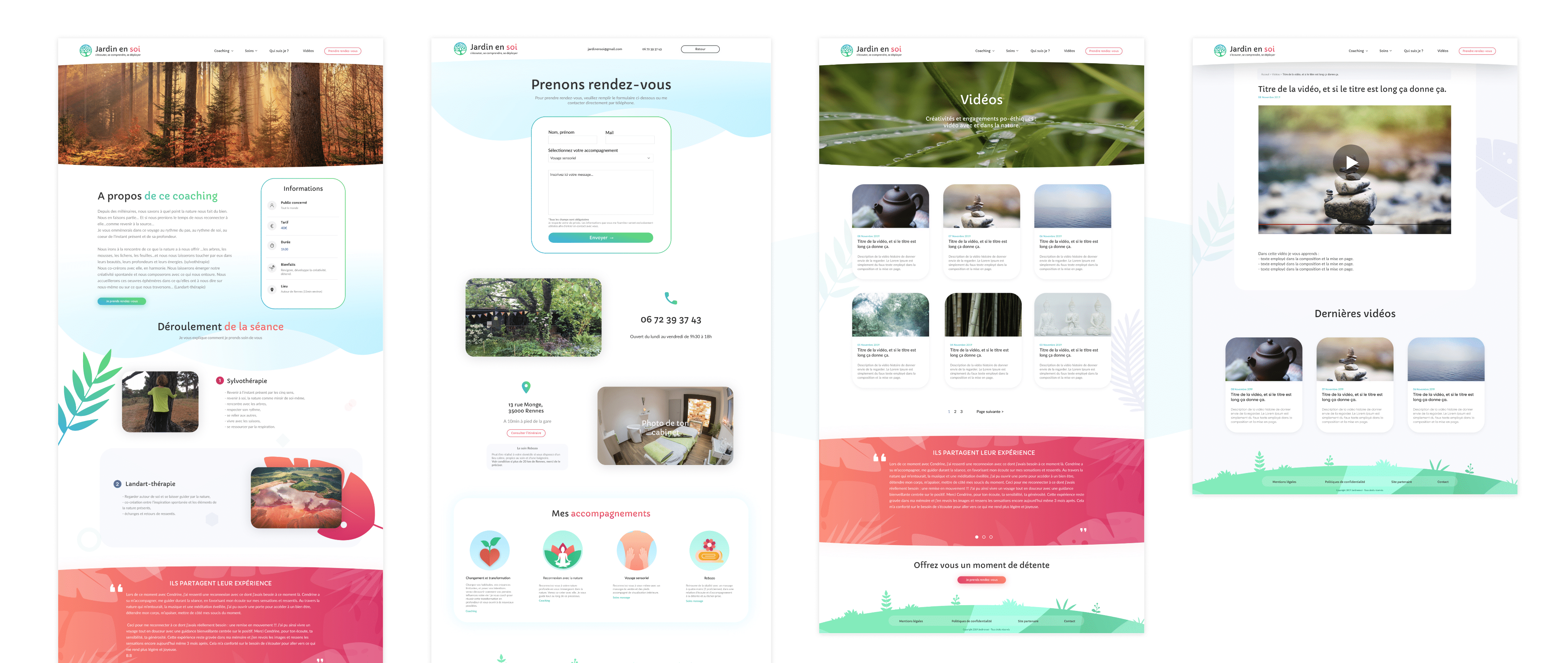 Web design du site wordpress jardinensoi